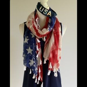 Accessories - Stars and Stripes Abstract Scarf & USA Headband